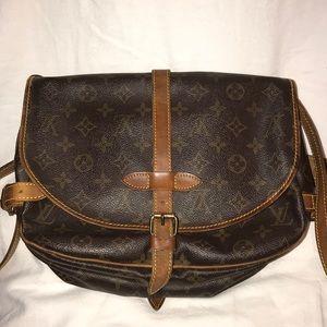 Louis  Hutton Vintage Saddle Crossbody Bag